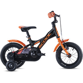 s'cool XXlite alloy 12 Kinder black/orange